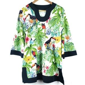 Soft Surroundings Paradise Tropical Tunic Top